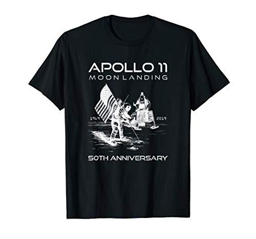 50. Jahrestag Apollo 11 Mond Landeplatz Erster Schritt T-Shirt (Landeplatz 11)