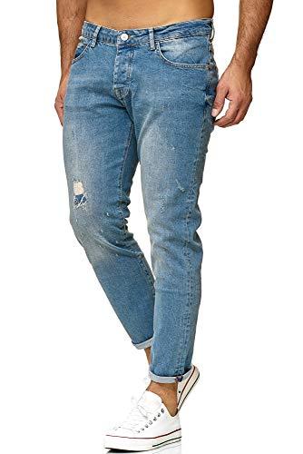 Redbridge Hombres Denim Jeans Regular-Fit Vaqueros con Agujeros Vintage Pantalón