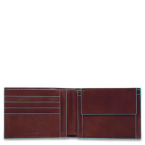 Piquadro PU257B2 Portafoglio, Collezione Blu Square, Mogano