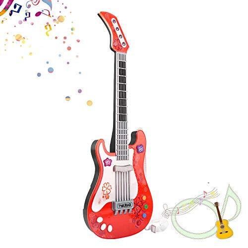 SANLINKEE Kinder Gitarre Baby Elektrische Gitarre Kinder Spielzeuggitarre Musik Gitarre Spielzeug ohne Saite Kindergitarre Music Gitarre für Kinder, Rot