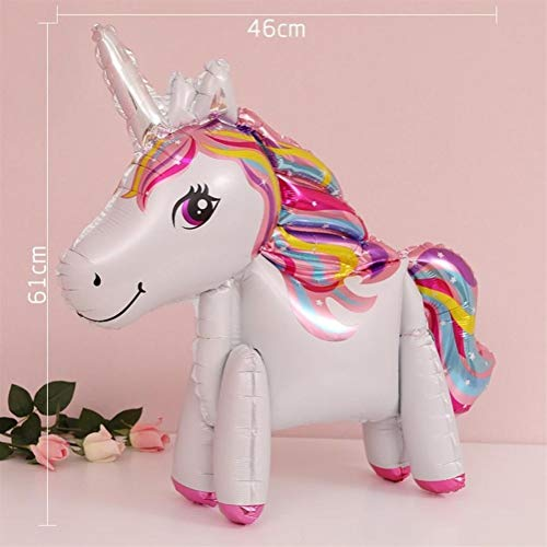 YANODA Einhorn Party Supplies Cake Topper Einhorn Geburtstag Party Decor Baby Dusche Ballons Einhorn Dekor (Color : Mix White)