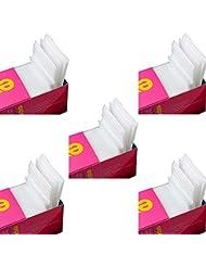Snaro 325 Pièces Carré de en coton Cellulose Coton Carré pour Nail Art Ongle Manucure, les feuilles de coton de déchargement de vernis à ongles, feuille de coton non-tissé jetable 5cm