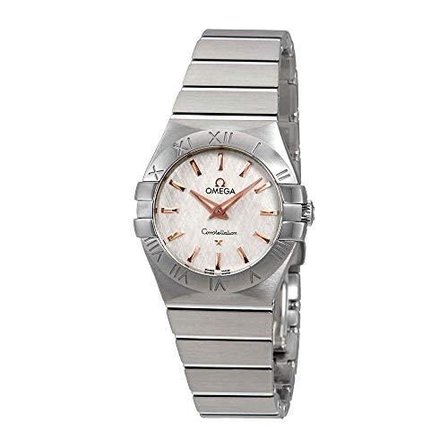Omega Constellation bianco opaline-silvery quadrante orologio da donna 123.10.27.60.02.004