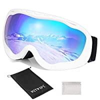 Ski Goggles Snowboard with Anti-fog 100% UV Protection S2 Dual Lens Snow Skiing Goggles Over Glasses for Women, Men, Kids