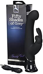 Fifty Shades of Grey Aufladbarer Rabbit Vibrator - Greedy Girl