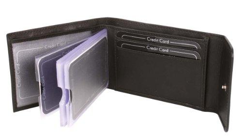 Scheckkartenhüllen OTARIO in Echt-Leder, schwarz, 7,5x10cm