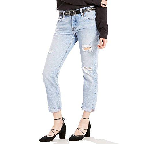 Levi's Damen Straight Jeans 501 Taper blau