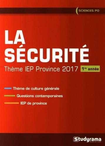 La sécurité - theme IEP province 2017 1re année