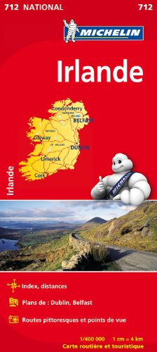 Carte NATIONAL Irlande par Collectif Michelin