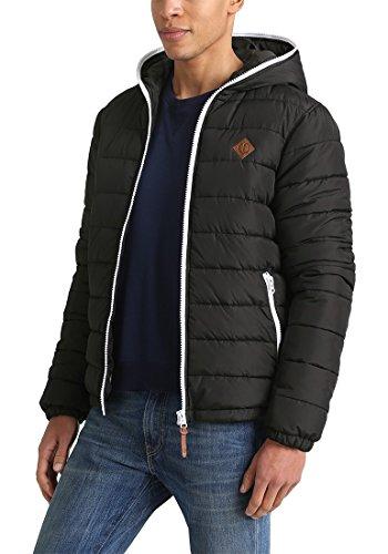 SOLID Dennis Herren Winterjacke Jacke mit Kapuze und durchgehendem Reißverschluss aus hochwertiger Materialqualität Black (8000)