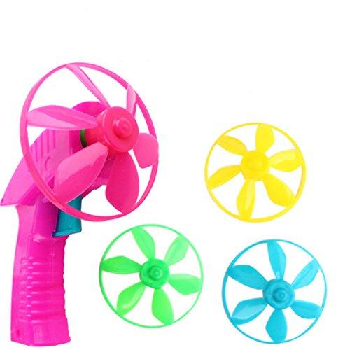 Baoblaze Fliegende Untertasse mit Launcher Kindergeburtstag Mitgebsel Spielzeug Satz
