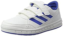 adidas Unisex Kids AltaSport Cloudfoam Gymnastics Shoes, White (Footwear White/Blue), 4.5 UK (37 1/3 EU)