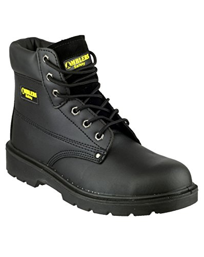 Amblers Safety Mens FS159 S3 Leather Safety Boots Black Noir