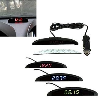 KING DO WAY 3In1 Auto Car 12V Digital LED Voltmeter Spannung Temperatur Uhr Thermometer kfz Grün