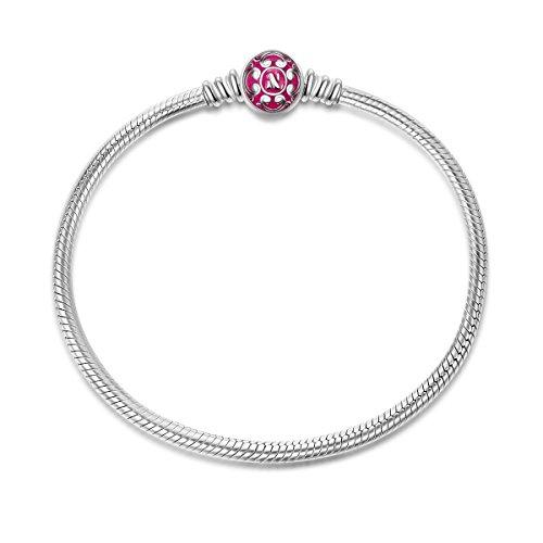 NinaQueen Charms Bracelet pour femme argent 925 - Rose 21cm