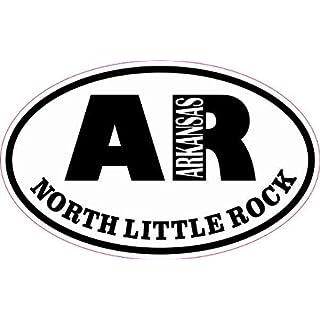 StickerTalk®: 4in x 2.5in Oval AR North Little Rock Arkansas Sticker
