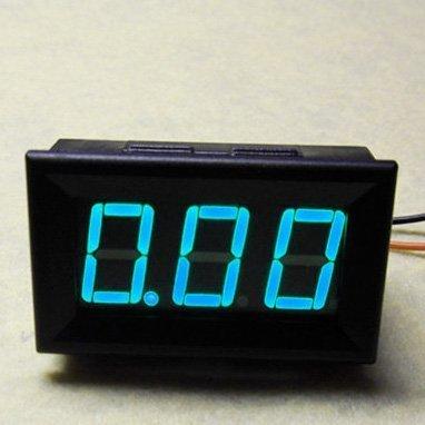 10A LED Current Meter Digital Display To Measure 0-9.99A Current In Blue Color (1/0 Gauge Amp)