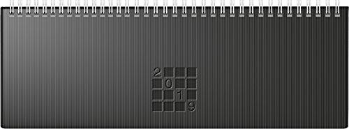 Rido/idé 703616190tavolo calendario/Orizzontale Agenda septant, 2pagine = 1settimana, 305X 105mm, copertina di carta Linea Nero, Calendario 2019, Wire o di attacchi