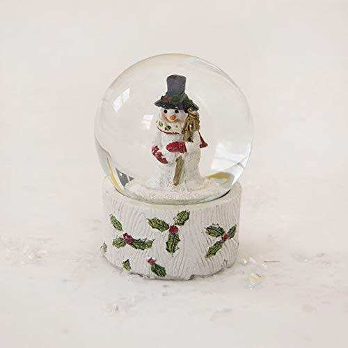 Gisela Graham Schneemann Holly Berry Glitzer Weihnachten Snow Globe Dekoration -