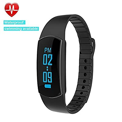 Heart Rate Monitor,Willful SW327 Fitness Tracker Smart Bracelet Bluetooth Pedometer Watch IP67 Waterproof Large Touch Screen with Cycling Mode,Sleep Monitor,Calorie Step Counter,Alarm Call SMS Alert for iPhone IOS Android for Men Women Ladies from Willful