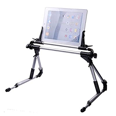 Aussel Portable Universal Tablet Bed Frame Holder Adjustable Foldable Stand for Tablet iPad 1 2 3 4 5 air Iphone6/6 plus Samsung Galaxy Tab,Lazy beside Bed,Car, Bedroom,Kitchen,Office,Bathroom - inexpensive UK light store.