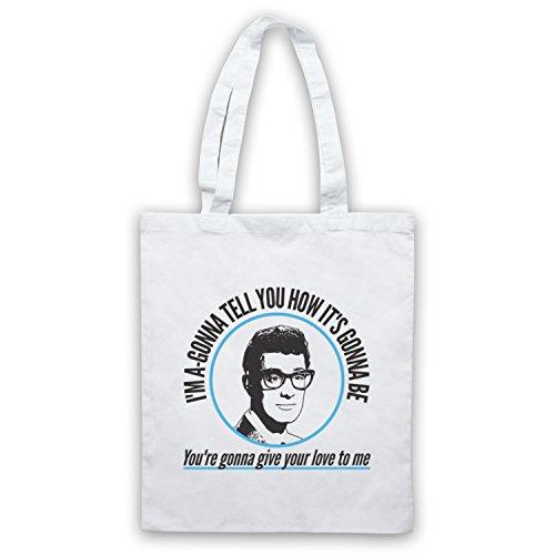 Inspiriert durch Buddy Holly Not Fade Away Inoffiziell Umhangetaschen Weis