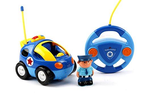 Maximum RC Polizeiauto mit Licht- und Soundeffekten für Kleinkinder - Ferngesteuertes Auto mit einfachster Steuerung - 40 MHz