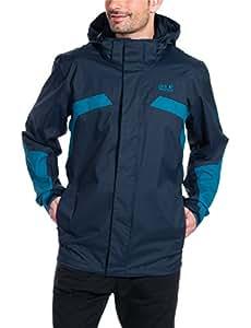 Jack Wolfskin Topaz II veste imperméable pour homme-bleu-taille S/1104831–1033002
