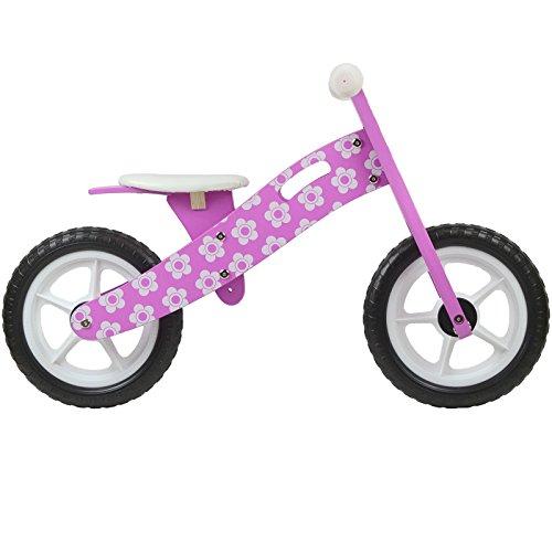 boppi® Wooden Balance Bike – Purple Flower