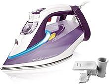 Philips PerfectCare Azur - Plancha de vapor con tecnología OptimalTemp, suela T-ionicGlide, 2800 W, color morado claro