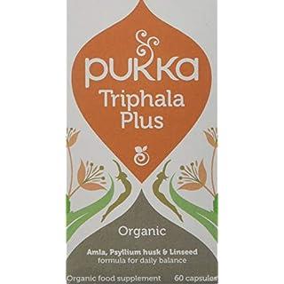 Pukka Herbs - Triphala Plus, Organic Herbal Supplement - Pack of 60 Capsules