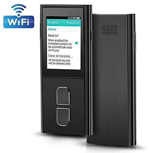 Rsioslet Tragbares Sprachübersetzergerät, künstliche Echtzeit-Sprachübersetzung in Echtzeit, 36 Sprachen WiFi und 4G Dual Mode für das Lernen von Geschäftsreisen