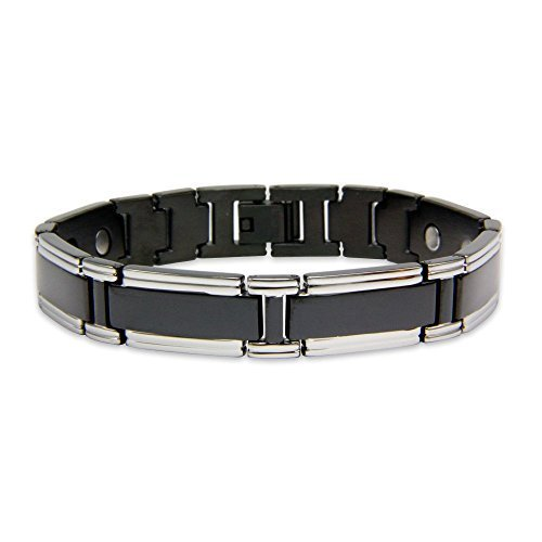 Magnet Expert® Bracelet magnétique Rare Earth pour Homme avec avec Fermoir déployant – Neutrino