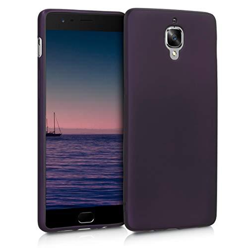 kwmobile OnePlus 3 / 3T Hülle - Handyhülle für OnePlus 3 / 3T - Handy Case in Metallic Brombeere (Bodys 3t)