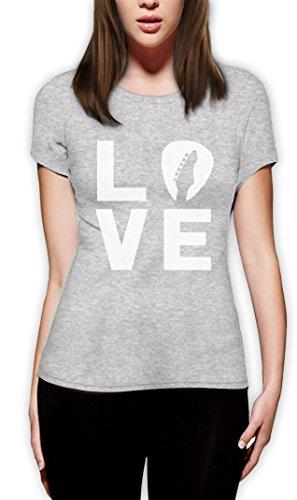 Love Gitarre - Tolles Geschenk Shirt für Musikfans Damen T-Shirt Slim Fit Grau