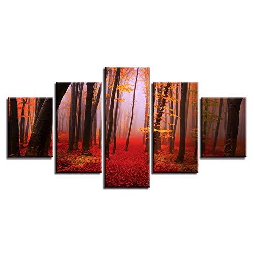 Leinwandbild Winterlandschaft Wald