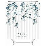 X-Labor Streifen Motiv Duschvorhang Wasserdicht Stoff Anti-Schimmel inkl. 12 Duschvorhangringe Waschbar Badewannevorhang 240x200cm Muster-D