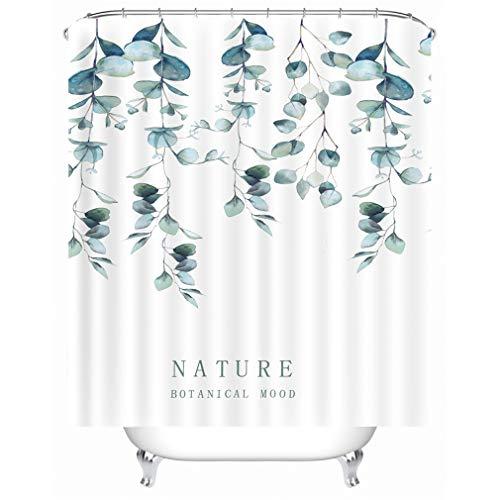 X-Labor Streifen Motiv Duschvorhang Wasserdicht Stoff Anti-Schimmel inkl. 12 Duschvorhangringe Waschbar Badewannevorhang 180x200cm Muster-D -