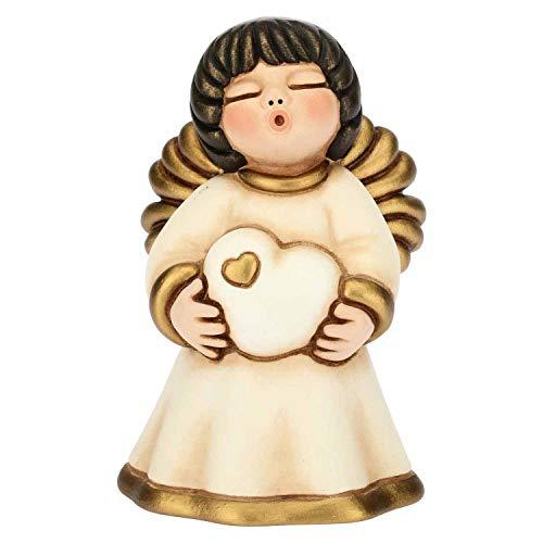 Thun ® - angelo limited edition 2019 piccolo con mughetto - ceramica - h 7,98 cm - linea i classici