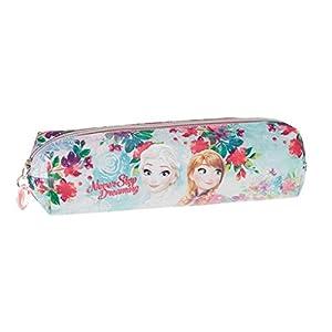 Disney Frozen Estuche portatodo Cuadrado, Color Turquesa, 22 cm (Karactermanía 32354)