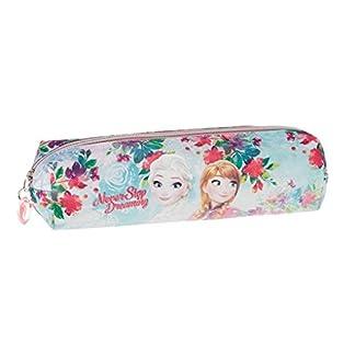 Disney Frozen- Estuche portatodo Cuadrado, Color Turquesa, 22 cm (Karactermanía 32354)