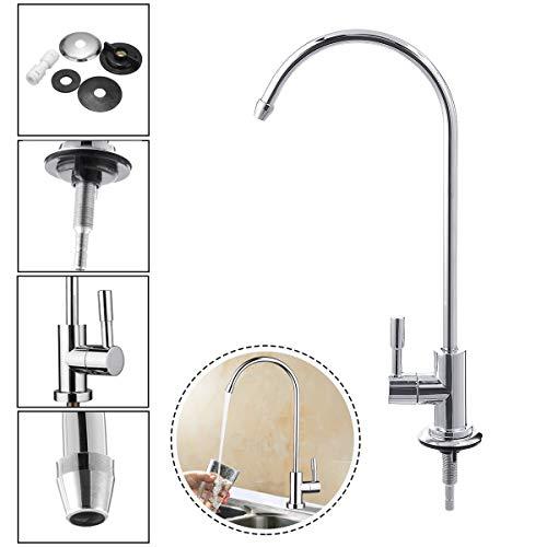 Aissimio rubinetto ruotabile a 360°per depuratore d'acqua 1/4