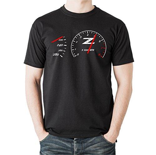 Siviwonder Unisex T-Shirt DREHZAHLMESSER 350Z GESCHWINDIGKEIT TURBO TUNING Hunde lustig fun schwarz 4XL -