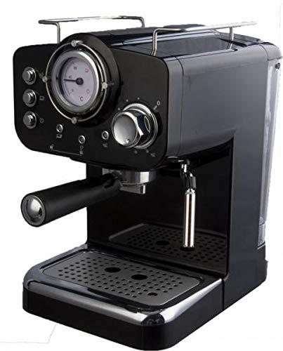 Macchina Caffe Macinato Espresso/Cappuccino 1/2 tazze 1100W 15bar 1.25L Nera