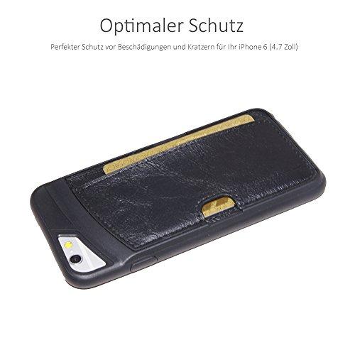 "Pink Case für iPhone 6 6S 6-S 4,7"" Zoll - Schutzhülle Backcase Backcover Hülle Schwarz"