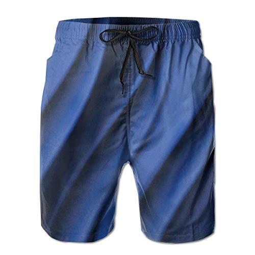 Icndpshorts Men Swim Trunks Beach Shorts,Ocean Waves Inspired Design with Digital Reflection Aqua Sea Abstract Artwork XXL -