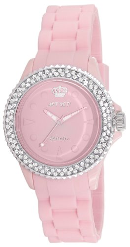 Jet Set – j18934 – 06 – Addiction 2 – Orologio da donna – quarzo analogico – Quadrante Rosa – Braccialetto Gomma Rosa