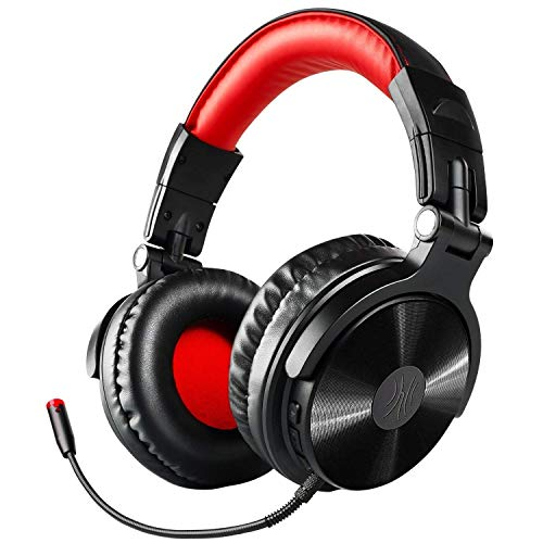 OneOdio Bluetooth Casque, 30 Heures Casque DJ Fermé pour Contrôler et Le mixage, Isolation Acoustique, Casque d'écoute sans Fil sur l'oreille avec Microphone Amovible et Double Pilote 50mm