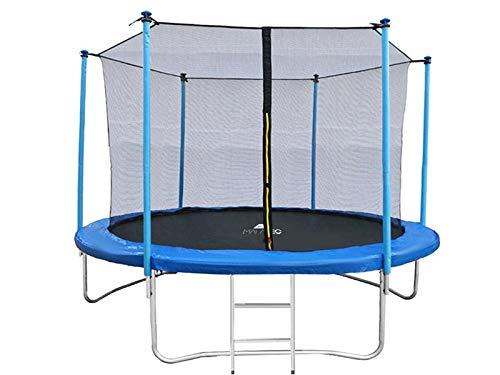 MALATEC Outdoor Gartentrampolinmit Sicherheitsnetz undEinstiegsleiter 244 cm / 8 ft Tragkraft 150kg 7982