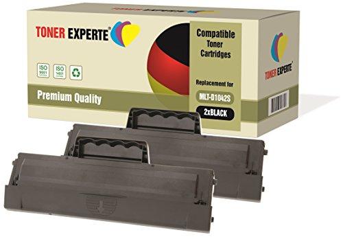 Pack 2 TONER EXPERTE® Compatibles MLT-D1042S Cartouches de Toner pour Samsung ML-1660, ML-1665, ML-1670, ML-1675, ML-1860, ML-1865, ML-1865W, SCX-3200, SCX-3201, SCX-3205, SCX-3205W, SCX-3206, SCX-3217, SCX-3218, ML-1661, ML-1666